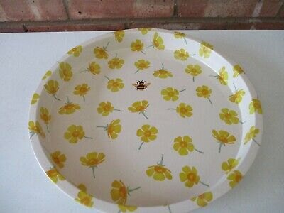 Emma Bridgewater Round Metal Deep Well Tray Buttercup & Bee - New Just released