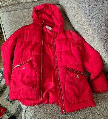 Girls Matalan Red Winter Coat - Age 10 - Good Condition