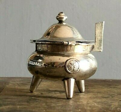 Sterling Silver Mustard Pot. Asahi Shoten Company Of Japan.