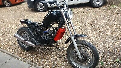 RARE UNRESTRICTED CAGIVA BLUES 125 UNFINISHED BOBBER PROJECT 23hp