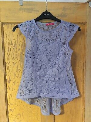 Young Dimension girls mauve lace short sleeve top with slip age 10-11 years