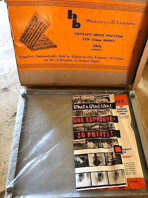 VINTAGE Harvey Brenson Contact Sheet Printer NEW BOXED 35MM MODEL