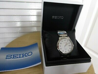 Genuine SEIKO Sapphire Crystal Watch Glass Clear Dial Date WR 100m