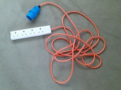 Camping Male to 4 Gang Hook Up Extension Cable Lead