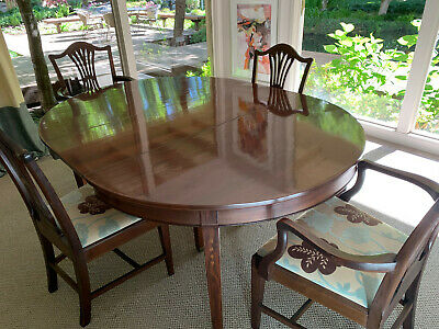 Potthast Antique Mohogany Dining Room Set, Buffet, Side Table