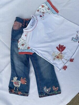 Next Girls Outfit Jeans And Tshirt Age 2-3