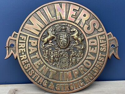 Antique Brass Safe Front Badge  Milner's