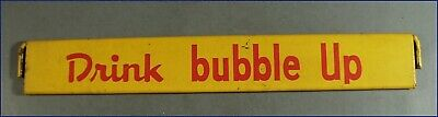 Vintage Drink Bubble Up, Metal Display Sign, Yellow & Red