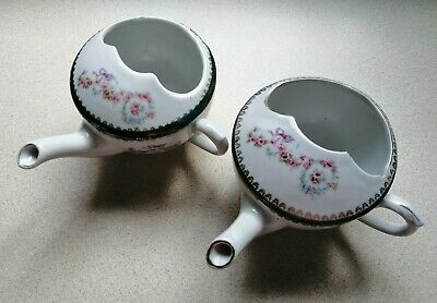 Pair Of Antique Porcelain Invalid Feeding Cups