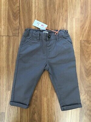 Bnwts. River Island Mini. Age 9/12 Months. Boys Grey Urban Trousers With Turn Up