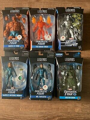 Marvel Legends Fantastic Four Lot With Silver Surfer And Doctor Doom