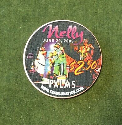 UNCIRCULATED Palms Casino Las Vegas 2003 NELLY $2.50 Poker Chip! RARE! LTD 2500