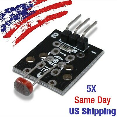 Photosensitive Photoresistor Light Detector Module Resistor Arduino PIC AVR 5PCS