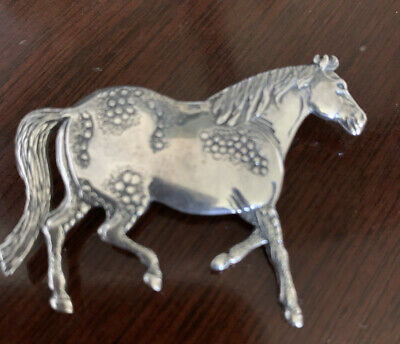 sterling silver horse pin brooch