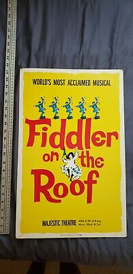Fiddler on the roof Old Collectible Poster Majestic Theater