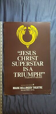 Jesus Christ Superstar Mark Hellinger Theater Old Collectible Poster