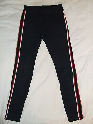 Girls H&M Navy jogging bottoms leggings age 10-11 years