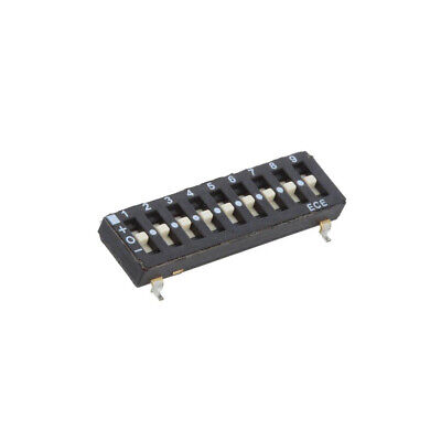 ETS109LTZ Switch: DIP-SWITCH Poles number: 9 OFF-ON 0.025A/24VDC Pos: 2 ECE