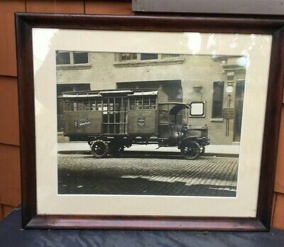 Antique Photograph Loose Wiles Biscuit Company Delivery Truck. Sunshine Biscuit