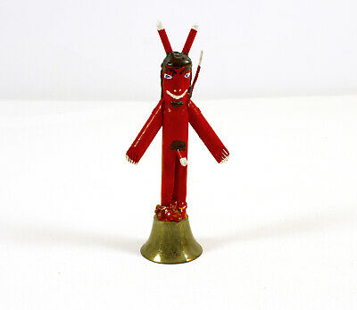 Ronald Cooper Folk Art Devil Bell Signed