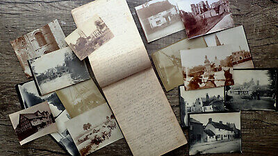 Circa 1895 Handwritten Diary & Sketchbook Bicycle Tour England Cattle Steamer