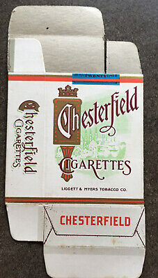 Original Chesterfield Dummy Display Package Printed In USA