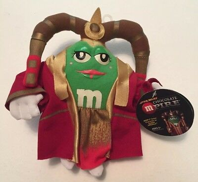 "Star Wars Chocolate Mpire M&Ms Green Queen Amidala 7"" Plush Figure 2005 w/ Tags"