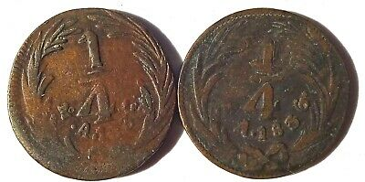 2 Mexico 1/4 Real 1836