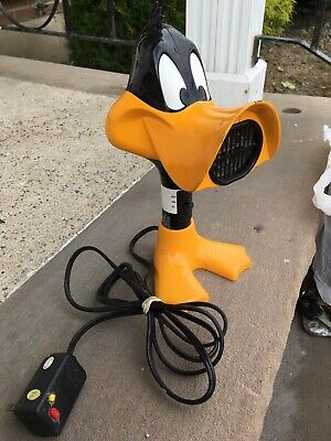 Warner Brothers 1999 DAFFY DUCK Toy figure Electric Blow Hair Dryer WORKS GREAT
