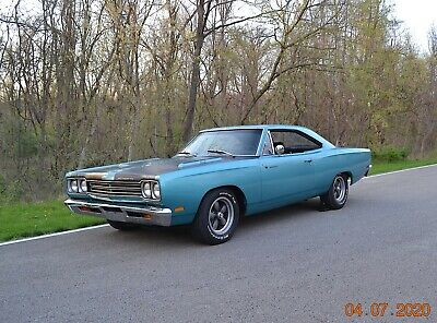 1969 Plymouth Road Runner 383 4SPD PS DISC BUCKETS 1969 ROADRUNNER RM23 383 4SPD PS DISC BUCKETS SOLID BEAUTIFUL SEAFOAM TURQUOISE