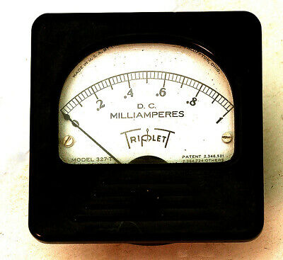 Triplett 0-1 DC Milliamp Panel Meter