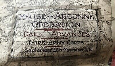 WWI 3rd Army Daily Advances Map