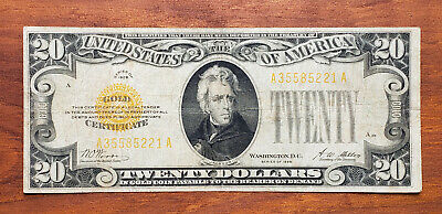 1928 $20 Gold Certificate, Circulated