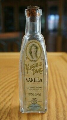 Vintage VIRGINIA DARE empty vanilla extract bottle