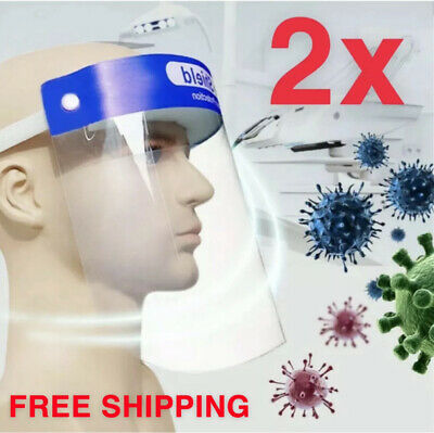 2 PCS Reusable Face Shield Anti-dust, Anti-droplets, Anti-fog, Protection 2 Pack