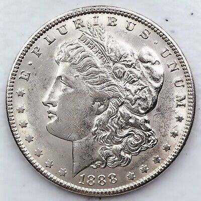 1888 Bu Morgan Silver Dollar 90% Silver $1 Coin Us #L55
