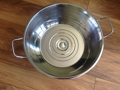 French Stainless Steel Jam Pan Upcycled Into A Sink / Basin FREE P&P
