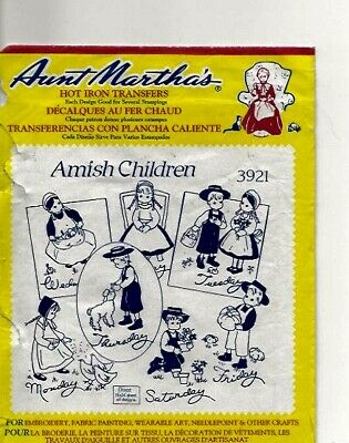 Amish Children Iron-On Transfer Patterns
