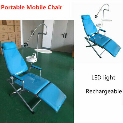 Dental Portable Mobile Chair with LED Cold Light Folding Unit Chair Headrest