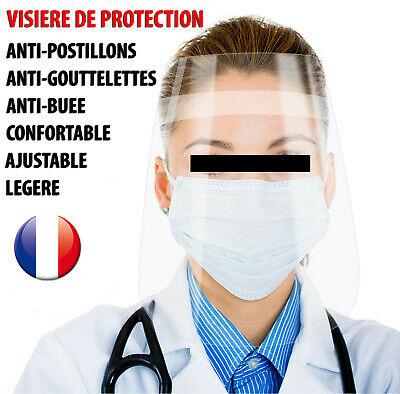 Visiere Masque De Protection Anti Projection Gouttelette Crachat Postillon