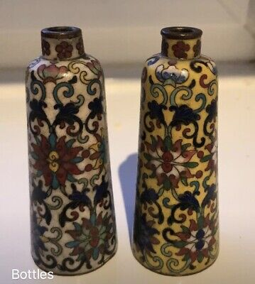 2 x antique chinese snuff bottles