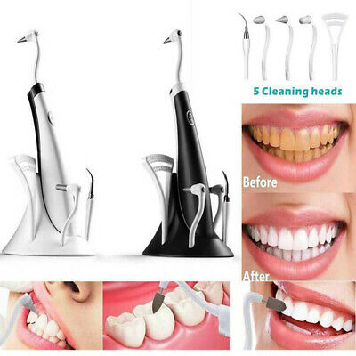 5 In1 Electric Tooth Cleaner Kit Ultrasonic LED Electric Oral Teeth Cleaning Kit