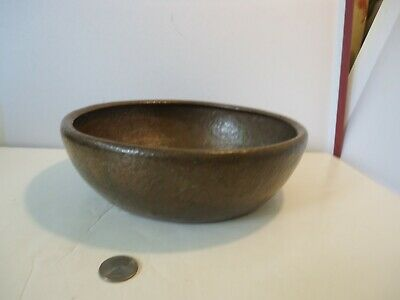 Antique Arts and Crafts Mission Hammered Copper Bowl