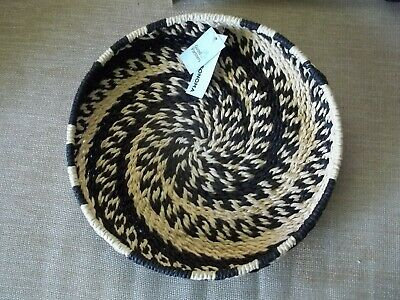 "3 Hand Woven Sonoma Shallow 11"" Baskets--New with tags"