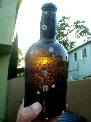 Early American Black Glass / Rum Bottle / Shipwreck !