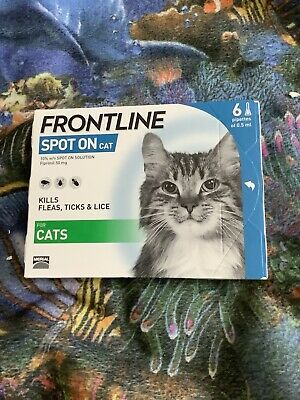 Frontline Spot On CAT Flea Tick Lice Treatment for Cats - 6 pipettes - AVM-GSL X