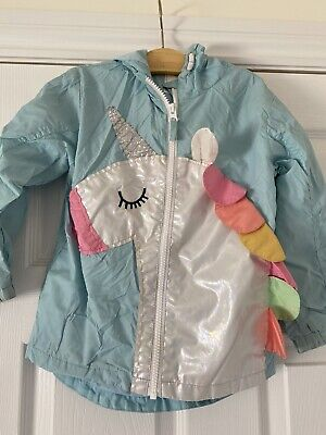 Girls white lightweight jacket with unicorns by NEXT  age 4 years