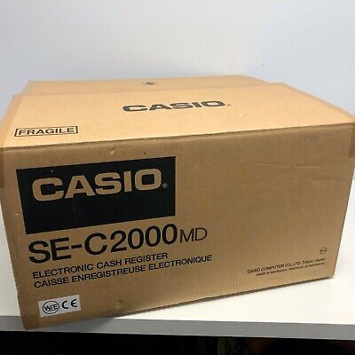 Casio Cash Register SE-C2000 With Cash Drawer & User Manual