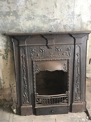 Fire surround / Old Fireplace / Victorian Cast Iron Fireplace Project/ Restore