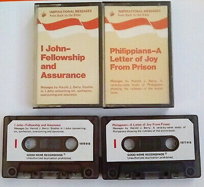 Back To The Bible Ministries 1 John  Fellowship & Phillippians Study Audio Tapes